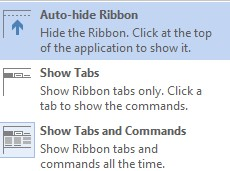 Autohide Ribbon