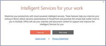 Intelligent Services dialog box