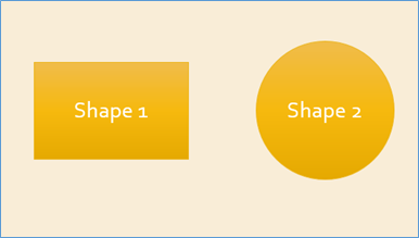 PowerPoint Shapes formatted with Apply Styles