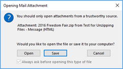 Opening Mail Attachment dialog box in Outlook
