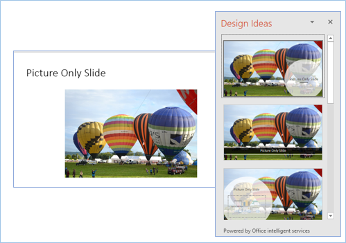 Design Ideas for existing slide pictures