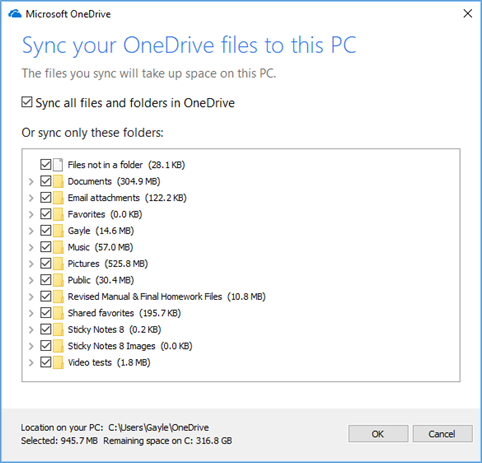 Remove OneDrive files from public computer